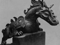 Grand dragon de bronze, Pascal leThéon brocanteur antiquaire Débarras Paris 75 77 78 90 92 93 94 95